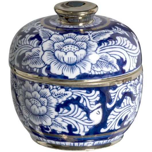 Picture of ODILIA jar with lid h15cm blue