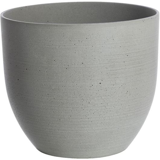 Picture of SANDSTONE planter h20cm grey