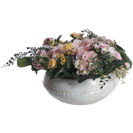 Picture of MIX arrangement h28cm pink/white