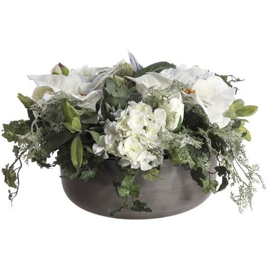 Picture of MIX arrangement h25cm white/grey