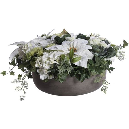 Picture of MIX arrangement h32cm white/grey