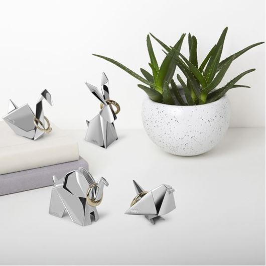 Picture of ORIGAMI ring holder assorted 4 stainless steel