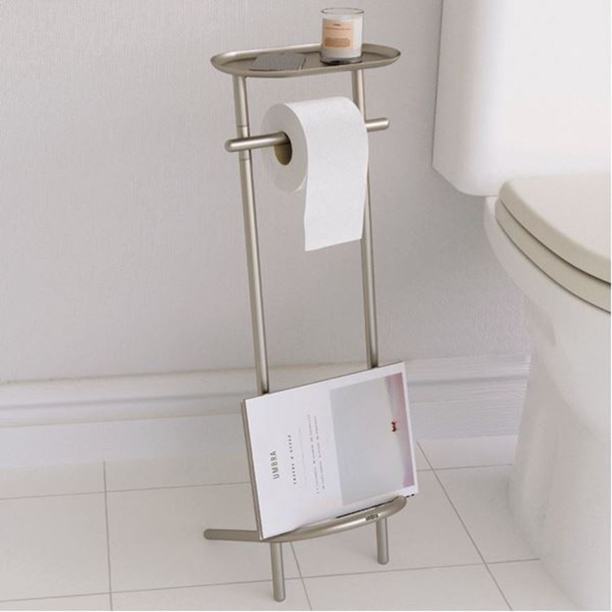 VALETTO Toilet Paper Holder And Magazine Rack Nickel THE One Where Enchanting Toilet Paper Holder With Magazine Rack