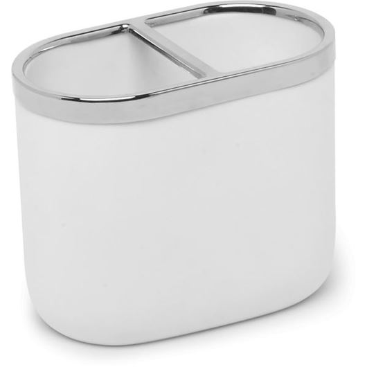 Picture of JUNIP toothbrush holder white/stainless steel