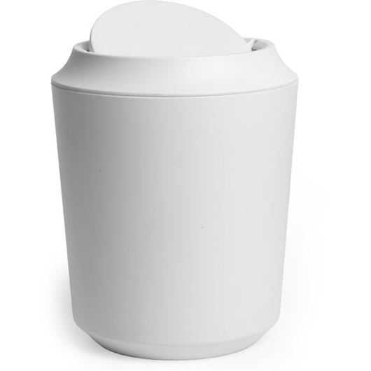 Picture of CORSA waste can with lid white