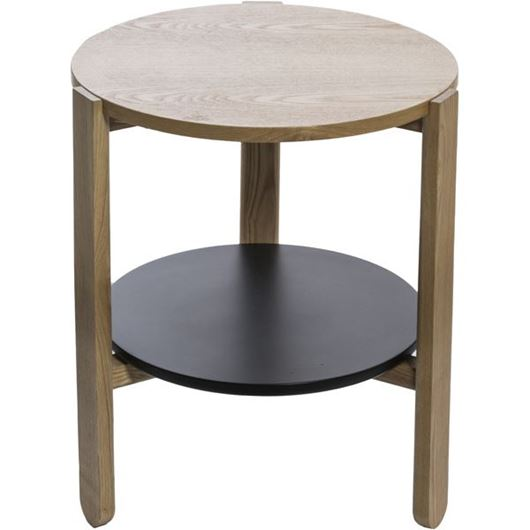 Picture of HUB side table d45cm black/natural