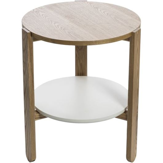 Picture of HUB side table d45cm white/natural