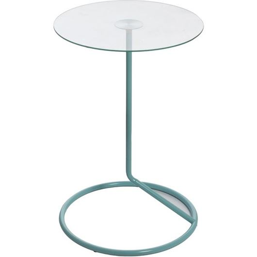 Picture of LOOP side table d38cm blue/clear