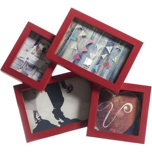 Picture of MOSH photo frame 4 red