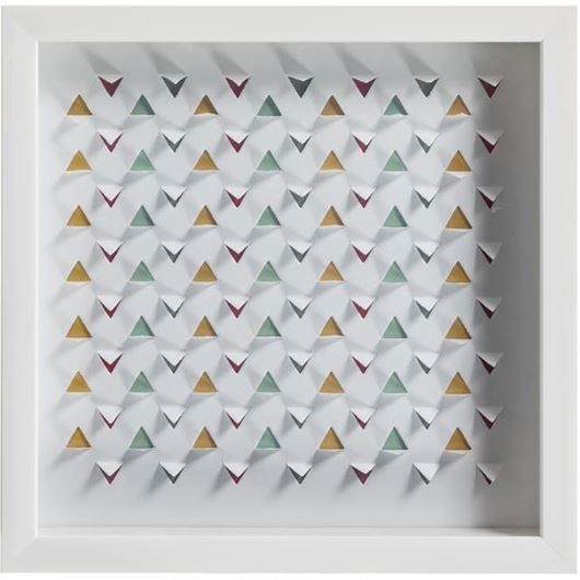Picture of GEOMETRIC wall decoration white
