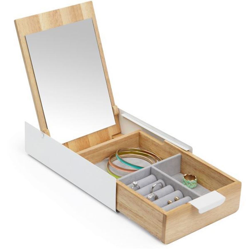 Picture of REFLEXION jewellery box white/natural