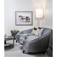 VIK sofa 3.5 microfibre silver