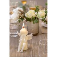 ANGEL candle h14cm cream