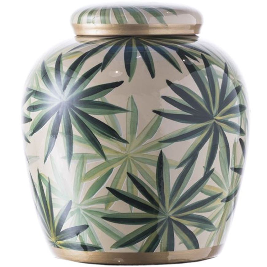 Picture of METTY jar with lid h23cm green