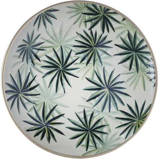 Picture of METTY plate decoration d40cm green
