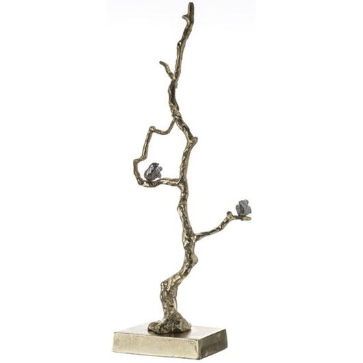 Picture of BRANCH decoration h71cm gold/silver