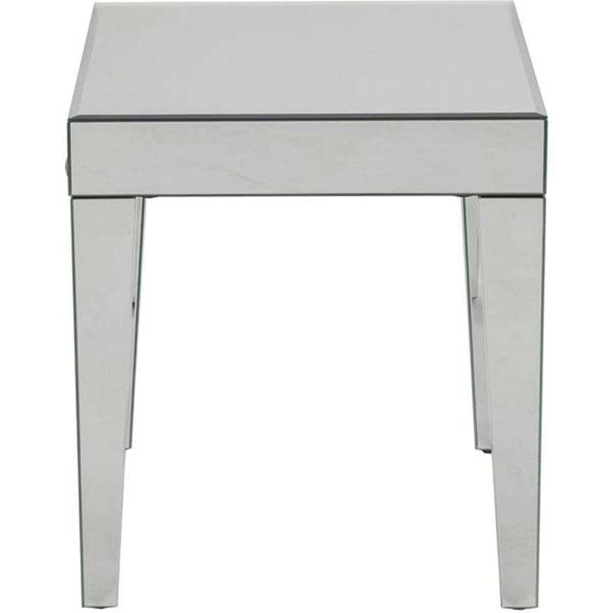 Picture of TORA side table 48x48 clear