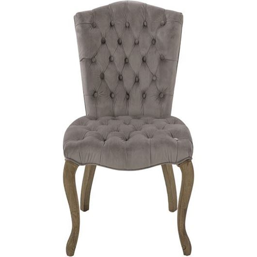 FRAEL dining chair microfibre grey/taupe