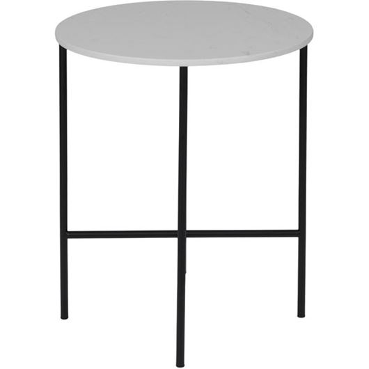 Picture of KAFE side table d50cm white/black