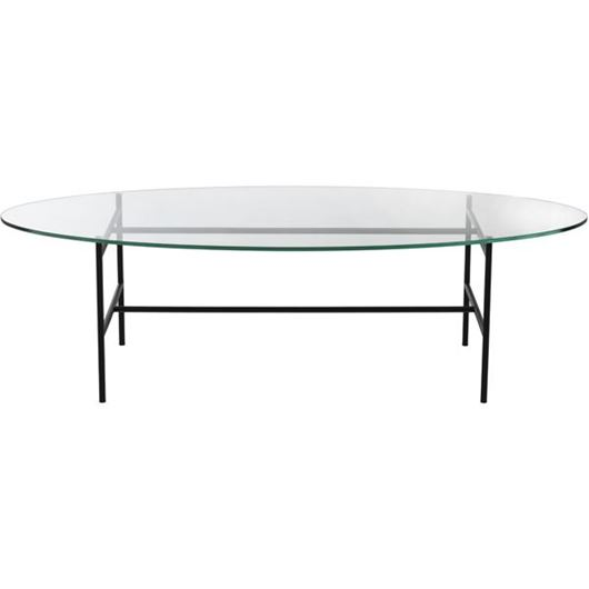 Picture of KAFE coffee table 140x60 clear/black