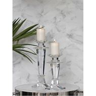 SHEA candle holder h28cm clear