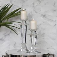 SHEA candle holder h41cm clear