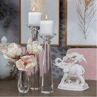 SIAH candle holder h36cm clear