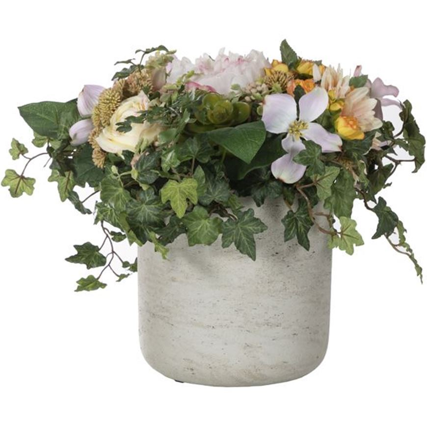 Picture of MIX bouquet h31cm pink/light grey