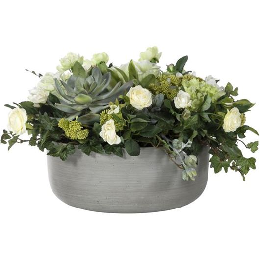 Picture of MIX arrangement h26cm cream/grey