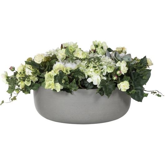 Picture of MIX arrangement h33cm cream/grey