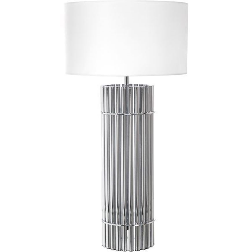 Sia Table Lamp H92cm White Silver The
