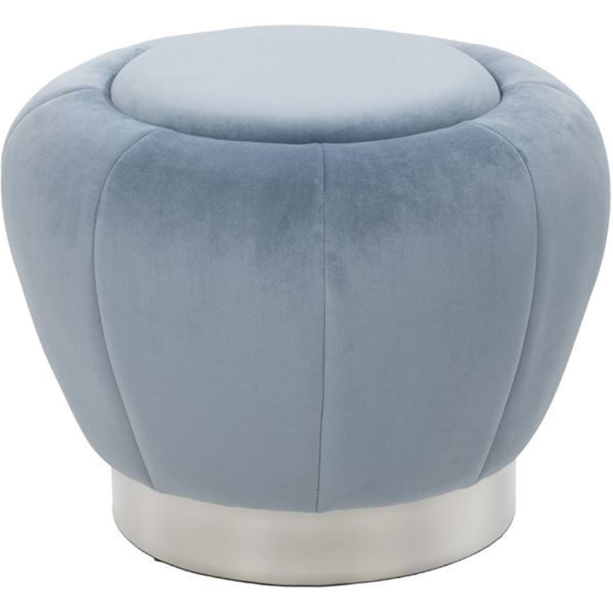 Picture of BAXTER stool d60cm blue