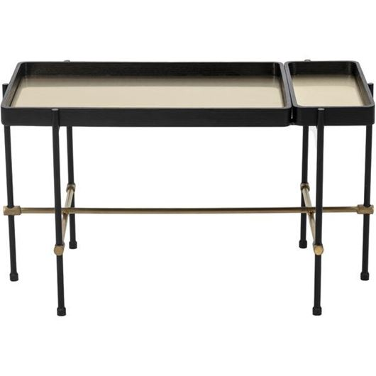 Picture of LINE coffee table with tray 80x40 black/gold