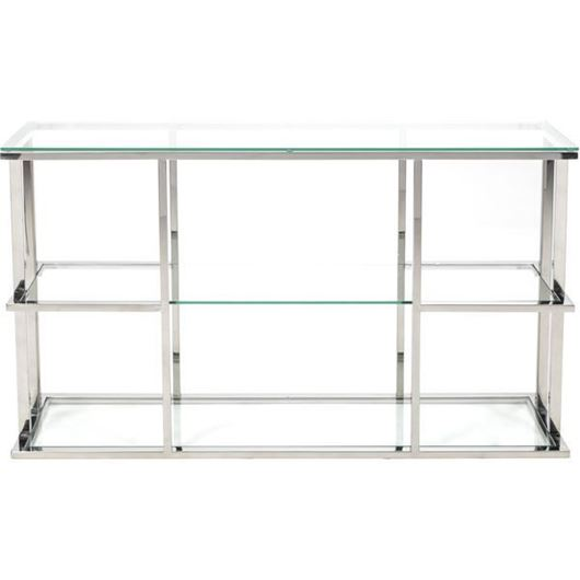RABIL console 140x40 clear/stainless steel