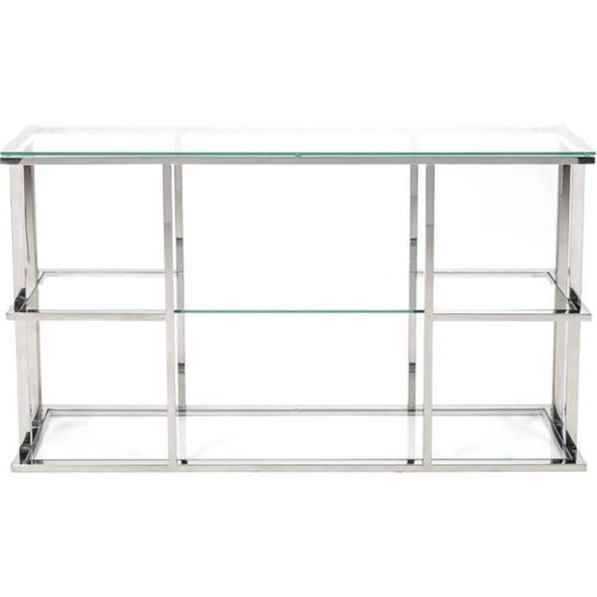 Picture of RABIL console 140x40 clear/stainless steel