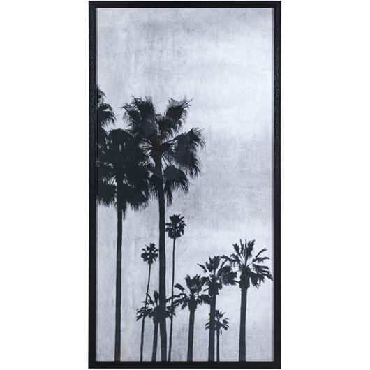 Picture of Framed Print Palm II 74x144 black