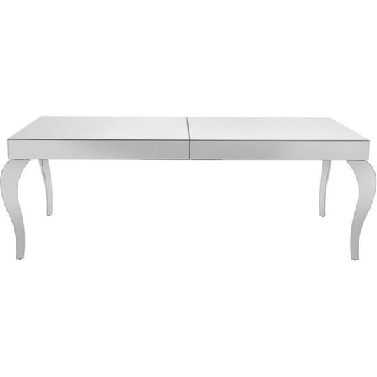 Picture of POLLY dining table 220x100 clear/stainless steel