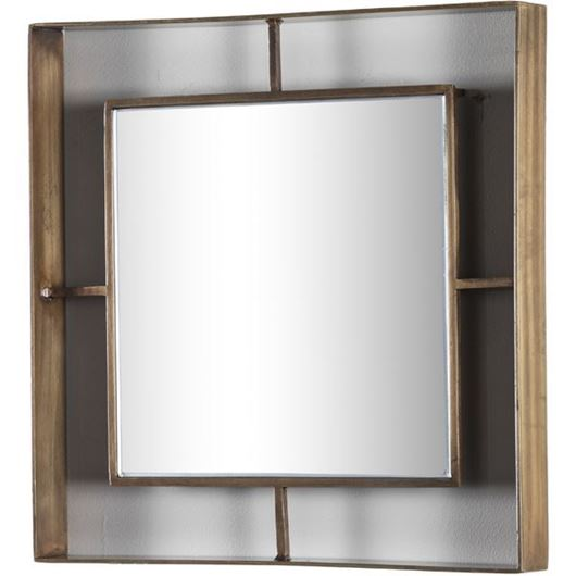 Picture of HAILY mirror 36x36 brass