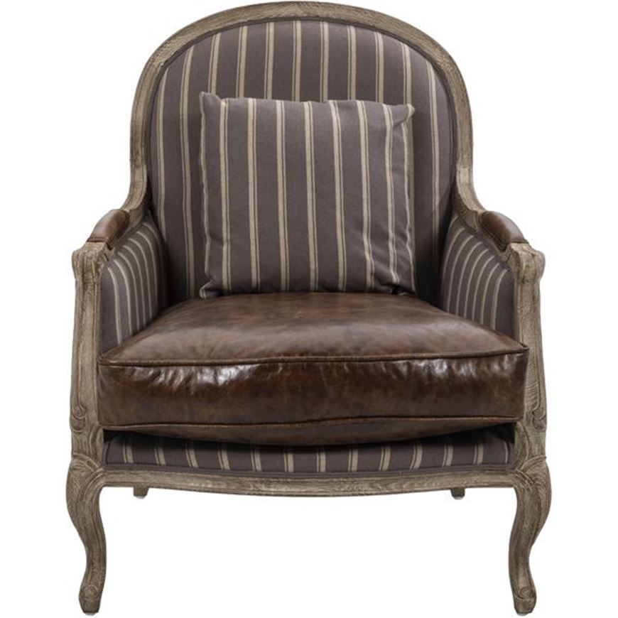 Picture of LIDA armchair leather brown