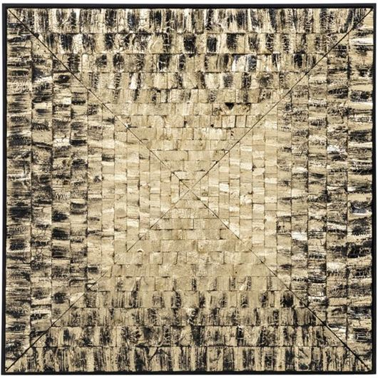 Picture of VIDAL wall decoration 90x90 gold