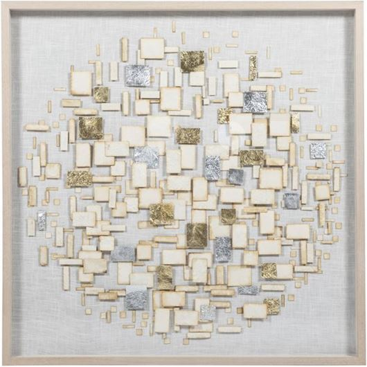 Picture of WILLA wall decoration 120x120 beige