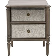 JEROM bedside table brown/silver