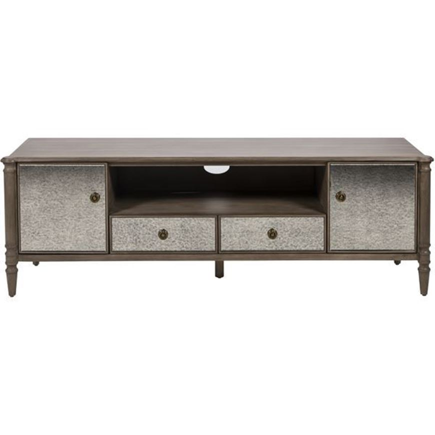 JEROM entertainment unit 61x183 brown/silver