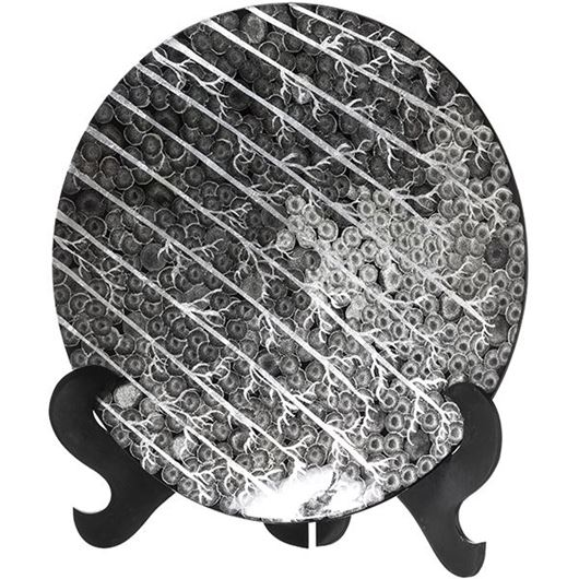 Picture of HATHAI plate decoration d50cm black and white