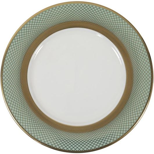 Picture of TIFFANY dessert plate d21cm blue/gold