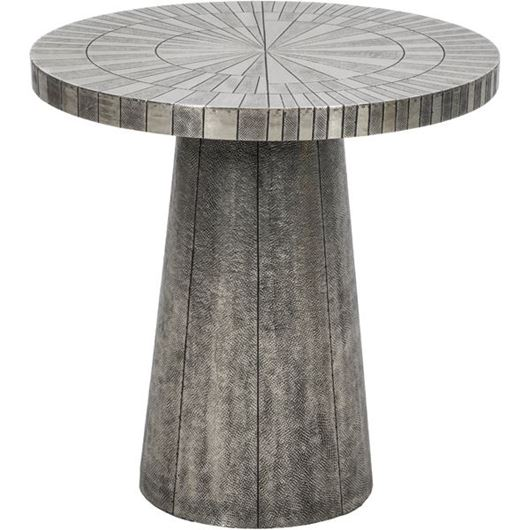 Picture of SOLAR side table d60cm silver