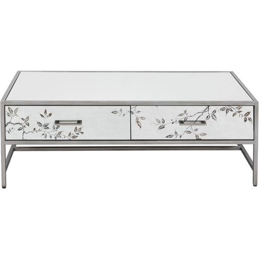 Picture of ROSLIN coffee table 130x70 clear/silver