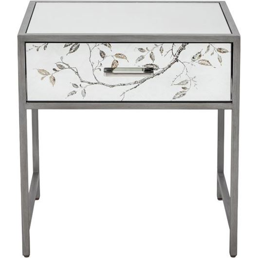 Picture of ROSLIN bedside table clear/silver
