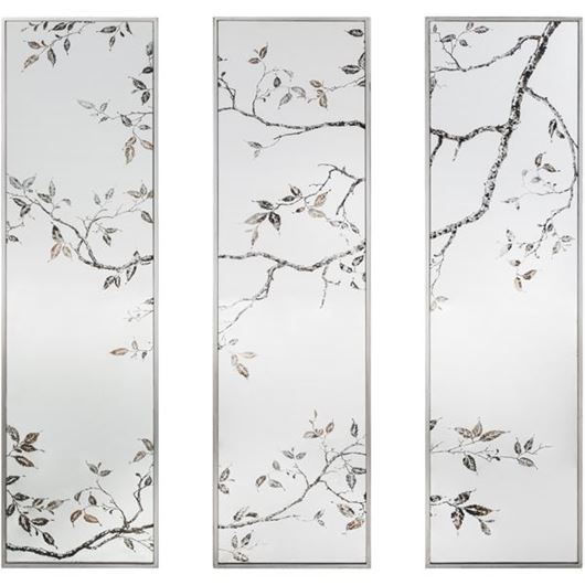 Picture of ROSLIN mirror 122x32 set of 3 clear/silver