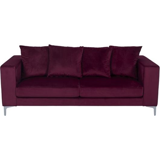 Picture of REO sofa 3 microfibre red